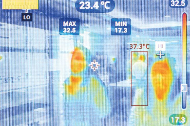 medición temperatura cámaras térmicas