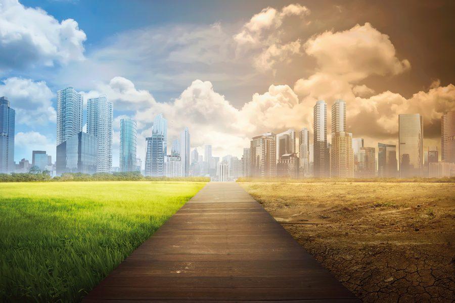 medio ambiente, ciudad, contaminación, sostenibilidad