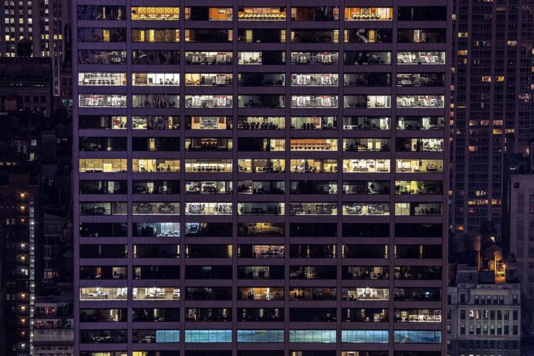 edificios trabajadores oficinas