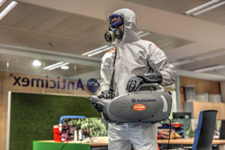 desinfección limpieza higiene oficinas