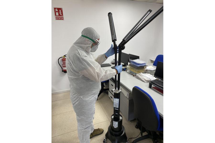 desinfección higiene vuelta al trabajo seguridad entornos