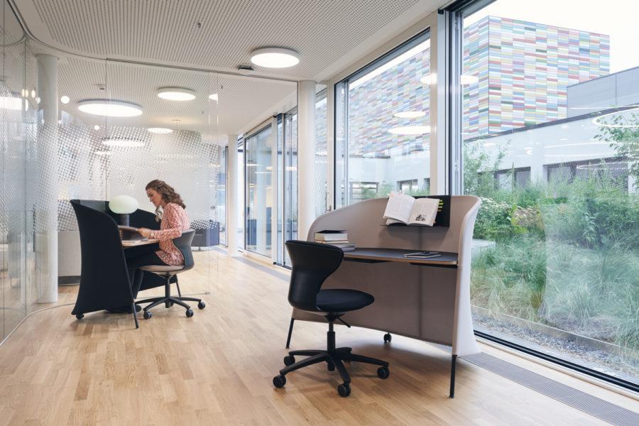 concentración espacio trabajo oficina