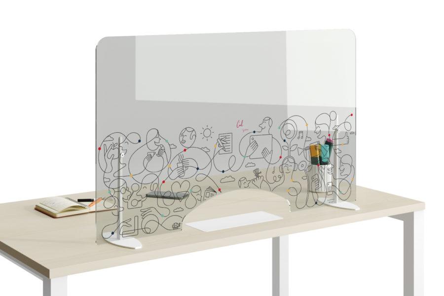 Diseño de oficinas con las mamparas autoportantes de Actiu.