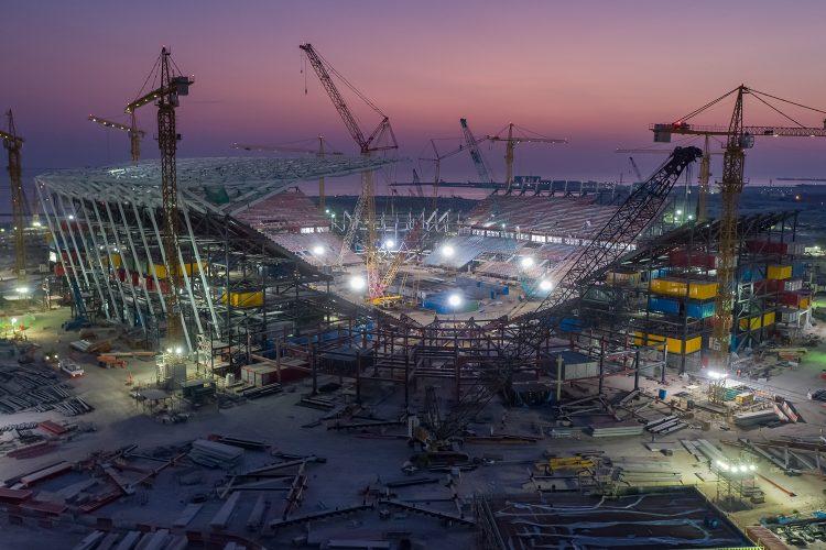 Ras Abu Aboud Stadium Aerials arquitectura sostenible