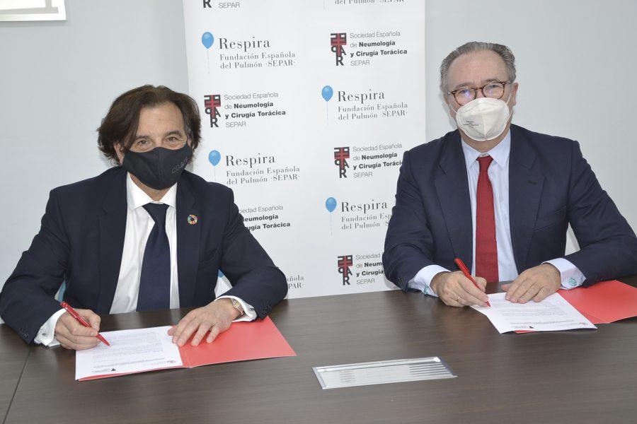 Convenio colaboración CGATE y SEPAR sobre calidad del aire interior