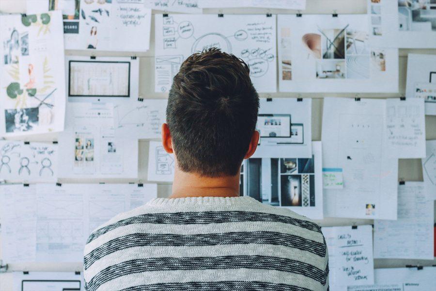 pensar, oficina, estrategia, startup