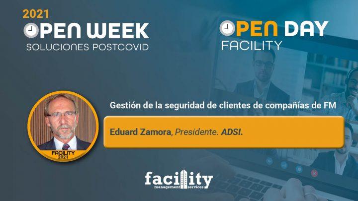 Eduard Zamora, presidente de ADSI. Facility Open Day 2021.