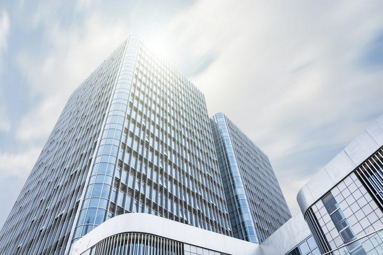 Edificio, oficinas, ciudad, smart building