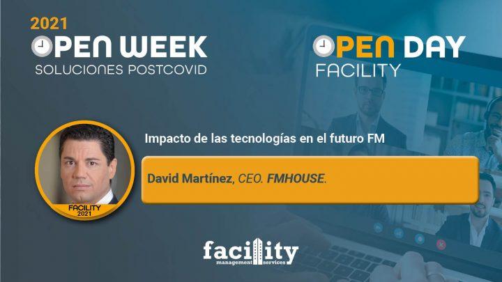 David Martínez, CEO de FMHOUSE. Facility Open Day 2021.