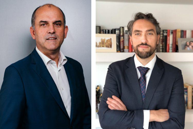 Jorge Borges de Araújo (izq.), presidente de APESENERGIA, y Carlos Ballesteros, director de ANESE