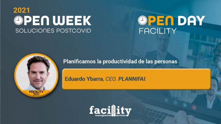 Eduardo Ybarra, CEO de Plannifai. Facility Open Day 2021.
