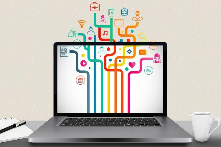 portatil, aplicaciones, cloud, tecnologia, internet