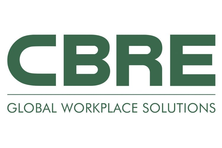 Logo CBRE Global Workplace Solutions.
