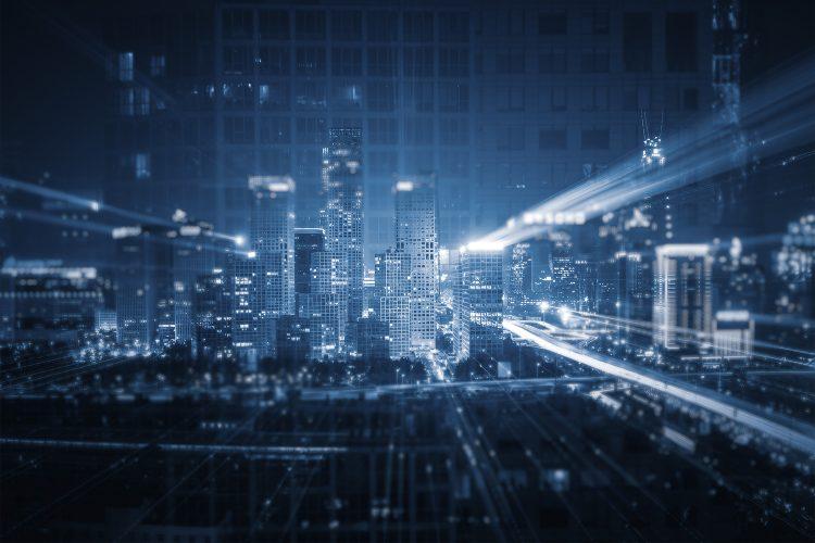 Ciudad, edificios, tecnología