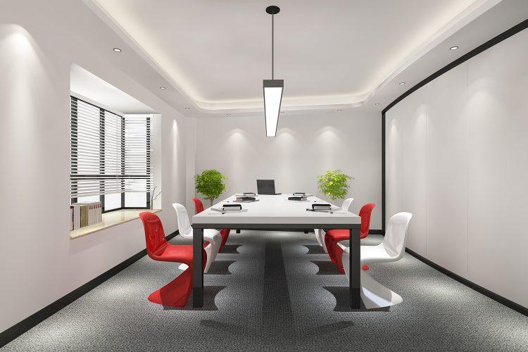digitalización workplace, sala de reuniones, oficina