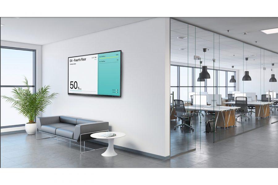 Kiosk view on tv screen metrikus